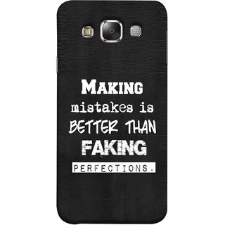 FUSON Designer Back Case Cover for Samsung Galaxy E7 (2015) :: Samsung Galaxy E7 Duos :: Samsung Galaxy E7 E7000 E7009 E700F E700F/Ds E700H E700H/Dd E700H/Ds E700M E700M/Ds  (Motivational Inspirational Saying Quotes Words Big)