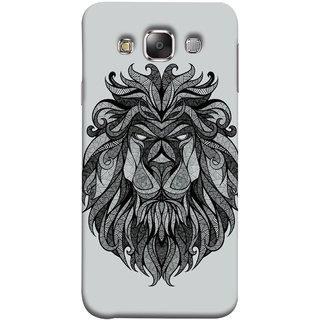 FUSON Designer Back Case Cover for Samsung Galaxy E7 (2015) :: Samsung Galaxy E7 Duos :: Samsung Galaxy E7 E7000 E7009 E700F E700F/Ds E700H E700H/Dd E700H/Ds E700M E700M/Ds  (Jungle Ka King Pencil Pen Sketch Best Wallpaper)