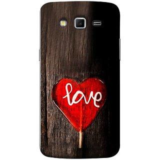 FUSON Designer Back Case Cover for Samsung Galaxy Grand 2 :: Samsung Galaxy Grand 2 G7105 :: Samsung Galaxy Grand 2 G7102 :: Samsung  Galaxy Grand Ii (Big Tree Dark Red Candy Heart Shape)
