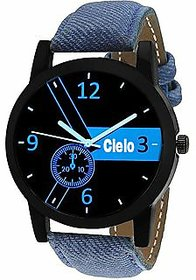 Cielo Blue Denim Strap Watch For Men