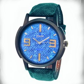 Cielo Sky Blue Denim Watch For Men