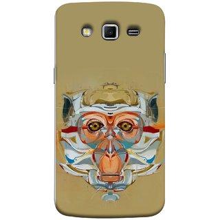 FUSON Designer Back Case Cover for Samsung Galaxy Grand 2 :: Samsung Galaxy Grand 2 G7105 :: Samsung Galaxy Grand 2 G7102 :: Samsung  Galaxy Grand Ii (Multicolour Cat Monkey King Animal Tree )