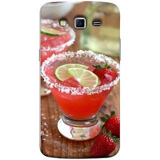 FUSON Designer Back Case Cover for Samsung Galaxy Grand 2 :: Samsung Galaxy Grand 2 G7105 :: Samsung Galaxy Grand 2 G7102 :: Samsung  Galaxy Grand Ii (Wine Glass Lemon Slices Farm Fresh Strawberry )