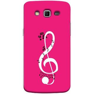 FUSON Designer Back Case Cover for Samsung Galaxy Grand 2 :: Samsung Galaxy Grand 2 G7105 :: Samsung Galaxy Grand 2 G7102 :: Samsung  Galaxy Grand Ii (Colorful Music Notes Symbols Small Black Notes)