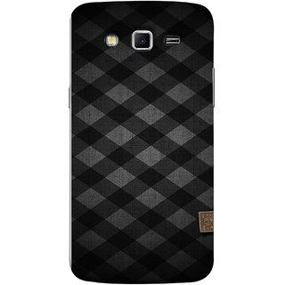 FUSON Designer Back Case Cover for Samsung Galaxy Grand 2 :: Samsung Galaxy Grand 2 G7105 :: Samsung Galaxy Grand 2 G7102 :: Samsung  Galaxy Grand Ii (Geometric Wallpaper Art Print Black And White )