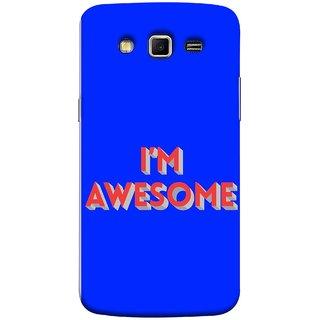 FUSON Designer Back Case Cover for Samsung Galaxy Grand 2 :: Samsung Galaxy Grand 2 G7105 :: Samsung Galaxy Grand 2 G7102 :: Samsung  Galaxy Grand Ii (I Am Lovely Wow Fact Motivational Inspirational Words)