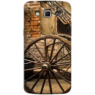 FUSON Designer Back Case Cover for Samsung Galaxy Grand 2 :: Samsung Galaxy Grand 2 G7105 :: Samsung Galaxy Grand 2 G7102 :: Samsung  Galaxy Grand Ii (Wheel Hay Cart Old Wagons Indian Cycle Rickshow)