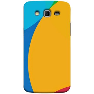 FUSON Designer Back Case Cover for Samsung Galaxy Grand 2 :: Samsung Galaxy Grand 2 G7105 :: Samsung Galaxy Grand 2 G7102 :: Samsung  Galaxy Grand Ii ( Large Medium Circles Orange Yellow Red Blue Grey)