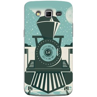 FUSON Designer Back Case Cover for Samsung Galaxy Grand 2 :: Samsung Galaxy Grand 2 G7105 :: Samsung Galaxy Grand 2 G7102 :: Samsung  Galaxy Grand Ii (Train Engine Smoke Little Good Will Goes Long Way)