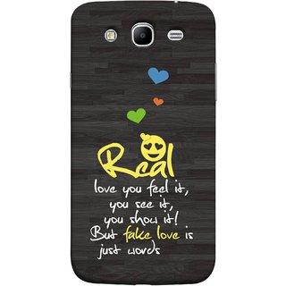 FUSON Designer Back Case Cover for Samsung Galaxy Mega 5.8 I9150 :: Samsung Galaxy Mega Duos 5.8 I9152 (Real Love True False Love Words See It Show It )