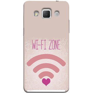 FUSON Designer Back Case Cover for Samsung Galaxy Grand 3 :: Samsung Galaxy Grand Max G720F (Love Wifi Zone Connect With Lovers Couples Hearts)