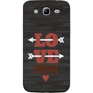FUSON Designer Back Case Cover for Samsung Galaxy Mega 5.8 I9150 :: Samsung Galaxy Mega Duos 5.8 I9152 (Hearts Alone Arrow White Follow Worlds School )