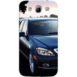 FUSON Designer Back Case Cover for  Galaxy Mega 5.8 I9150   Galaxy Mega Duos 5.8 I9152 (Road Black White Clouds Beautiful Road Blue Side rror)