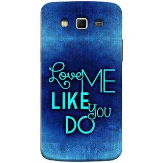 FUSON Designer Back Case Cover for Samsung Galaxy Grand 2 :: Samsung Galaxy Grand 2 G7105 :: Samsung Galaxy Grand 2 G7102 :: Samsung  Galaxy Grand Ii (Baby Couples Nice Quotes Happy Lovely Hard Kisses )