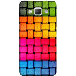 FUSON Designer Back Case Cover for Samsung Galaxy Grand 3 :: Samsung Galaxy Grand Max G720F (Bright And Beautiful Colour Strips And Band Glossy)