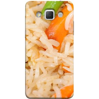 FUSON Designer Back Case Cover for Samsung Galaxy Grand 3 :: Samsung Galaxy Grand Max G720F (Veg Rice Hot With Raita White Top Recipes Food)