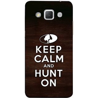 FUSON Designer Back Case Cover for Samsung Galaxy Grand 3 :: Samsung Galaxy Grand Max G720F (World Logo Keep Silent And Cool Hunting Always)