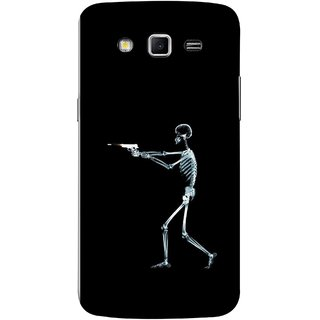 FUSON Designer Back Case Cover for Samsung Galaxy Grand 2 :: Samsung Galaxy Grand 2 G7105 :: Samsung Galaxy Grand 2 G7102 :: Samsung  Galaxy Grand Ii (Incredible Human Xray Pictures Revolver Icon In Black)