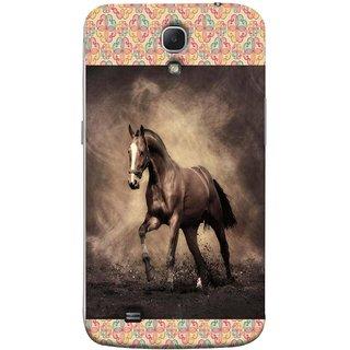 FUSON Designer Back Case Cover for Samsung Galaxy Mega 6.3 I9200 :: Samsung Galaxy Mega 6.3 Sgh-I527 (Beautiful Horse Black And White Brown Canvas Wallpaper)