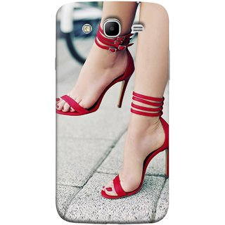 FUSON Designer Back Case Cover for Samsung Galaxy Mega 5.8 I9150 :: Samsung Galaxy Mega Duos 5.8 I9152 (Sitting Wheels Design Red Nailpolish Womens Girls Females )