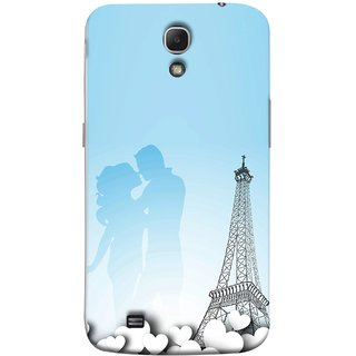 FUSON Designer Back Case Cover for Samsung Galaxy Mega 6.3 I9200 :: Samsung Galaxy Mega 6.3 Sgh-I527 (Eiffel Tower True Love Couples Kisses Sky )