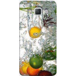 FUSON Designer Back Case Cover for Samsung Galaxy Grand 3 :: Samsung Galaxy Grand Max G720F (Lot Of Green Yellow Lemons Apples Fruits )