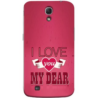 FUSON Designer Back Case Cover for Samsung Galaxy Mega 6.3 I9200  Samsung Galaxy Mega 6.3 Sgh-I527 (Pyar Hai Tumse Heart Pink Red True )