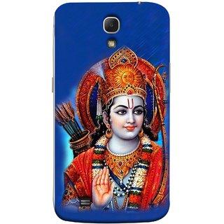 FUSON Designer Back Case Cover for Samsung Galaxy Mega 6.3 I9200 :: Samsung Galaxy Mega 6.3 Sgh-I527 (Ravana Fight Purshottam Hindu God Lotus Vishnu )