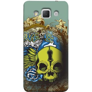 FUSON Designer Back Case Cover for Samsung Galaxy Grand 3 :: Samsung Galaxy Grand Max G720F (Sugar  Drawing Keyhole Scary Day Of The Dead Craft )