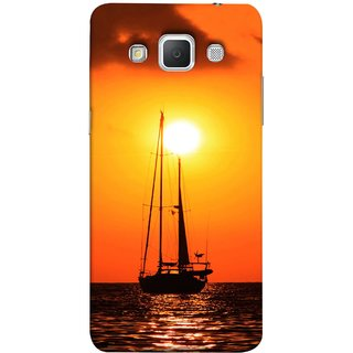 FUSON Designer Back Case Cover for Samsung Galaxy Grand 3 :: Samsung Galaxy Grand Max G720F (Sailboat Sailing On The Beautiful Greek Sea Sunset )