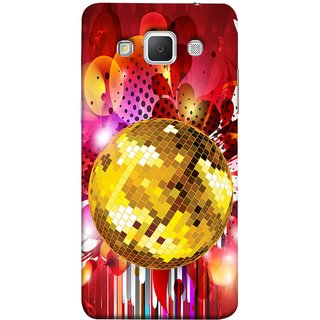 FUSON Designer Back Case Cover for Samsung Galaxy Grand 3 :: Samsung Galaxy Grand Max G720F (Music Disco Party Poster Red Shiny Abstract Party Design)