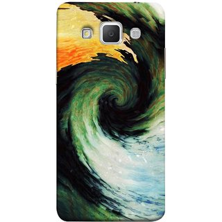 FUSON Designer Back Case Cover for Samsung Galaxy Grand 3 :: Samsung Galaxy Grand Max G720F (Galaxy Universe Lava Icy Water Green Land )