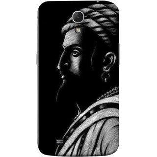 FUSON Designer Back Case Cover for Samsung Galaxy Mega 6.3 I9200 :: Samsung Galaxy Mega 6.3 Sgh-I527 (Chatrapati Shivaji Maharaj Sideview Jiretop With Beard)