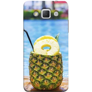 FUSON Designer Back Case Cover for Samsung Galaxy Grand 3 :: Samsung Galaxy Grand Max G720F (Fresh Pineapple Cocktails At Swimming Pool Blue Waters )
