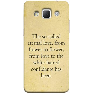 FUSON Designer Back Case Cover for Samsung Galaxy Grand 3 :: Samsung Galaxy Grand Max G720F (From Love To White Haired Confidante Has Been)