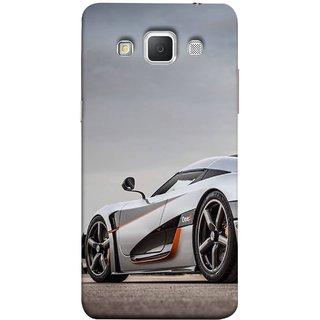 FUSON Designer Back Case Cover for Samsung Galaxy Grand 3 :: Samsung Galaxy Grand Max G720F (Sky White Red Clouds Front Lights Tyres Side Mirror)