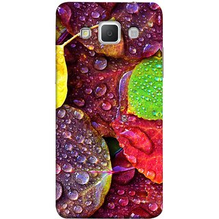 FUSON Designer Back Case Cover for Samsung Galaxy Grand 3 :: Samsung Galaxy Grand Max G720F (Big Leaf Leaves Lotus Raindrops Forest Raining Season)