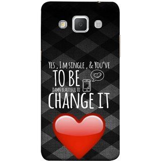 FUSON Designer Back Case Cover for Samsung Galaxy Grand 3 :: Samsung Galaxy Grand Max G720F (Damn Beautiful To Change It Hearts Love Pure )