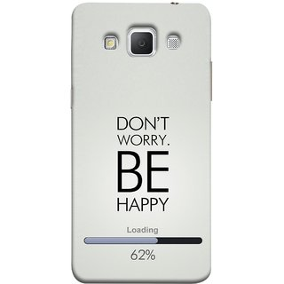 FUSON Designer Back Case Cover for Samsung Galaxy Grand 3 :: Samsung Galaxy Grand Max G720F (Loading Sixty Two Percentage Be Happy Never Worry)