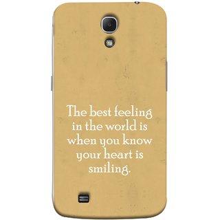 FUSON Designer Back Case Cover for Samsung Galaxy Mega 6.3 I9200 :: Samsung Galaxy Mega 6.3 Sgh-I527 (Heart Is Smiling Best Feeling In World Keep Smile)