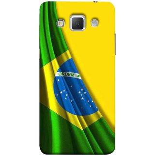 FUSON Designer Back Case Cover for Samsung Galaxy Grand 3 :: Samsung Galaxy Grand Max G720F (Brazilian Flag Olympiad In Brasil Happy Independence)