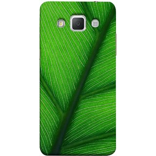 FUSON Designer Back Case Cover for Samsung Galaxy Grand 3 :: Samsung Galaxy Grand Max G720F (Bright Green Leaf Of Tree Full Of Life Network Of Veins)