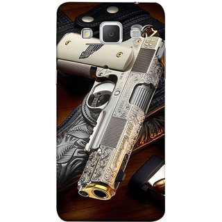 FUSON Designer Back Case Cover for Samsung Galaxy Grand 3 :: Samsung Galaxy Grand Max G720F (Gun Pouch Holder Loading Bullets Killing Murders )