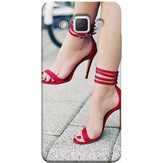 FUSON Designer Back Case Cover for Samsung Galaxy Grand 3 :: Samsung Galaxy Grand Max G720F (Sitting Wheels Design Red Nailpolish Womens Girls Females )