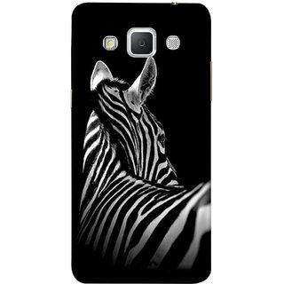 FUSON Designer Back Case Cover for Samsung Galaxy Grand 3 :: Samsung Galaxy Grand Max G720F (Close Up Portrait Of A Baby Zebra Long Ears Strips Forest)