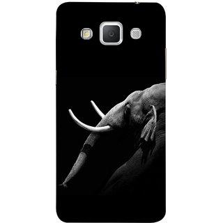 FUSON Designer Back Case Cover for Samsung Galaxy Grand 3 :: Samsung Galaxy Grand Max G720F (Close Up Portrait Of A Baby Elephant Long Ears Strips Forest)