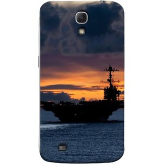 FUSON Designer Back Case Cover for Samsung Galaxy Mega 6.3 I9200 :: Samsung Galaxy Mega 6.3 Sgh-I527 (Sunrise Sunset With Silhouette Of Navy Ship Sailing Away)