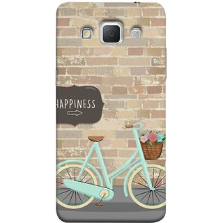 FUSON Designer Back Case Cover for Samsung Galaxy Grand 3 :: Samsung Galaxy Grand Max G720F (Bicycle Ride With Flowers And Way To Happy )