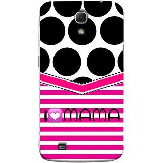 FUSON Designer Back Case Cover for Samsung Galaxy Mega 6.3 I9200 :: Samsung Galaxy Mega 6.3 Sgh-I527 (Pink Design Paper Big Black Circles Bubbles Mother )