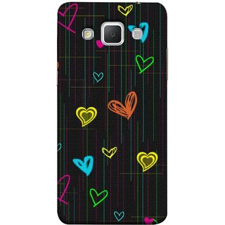FUSON Designer Back Case Cover for Samsung Galaxy Grand 3 :: Samsung Galaxy Grand Max G720F (Multicolour Hearts Shapes Shining Shapes Loopable)